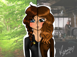 .:Katniss and Kate:. by Kyarii-chan