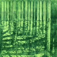 Line forest - messed up green by fenna-maruda