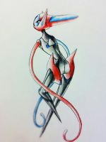 Space Enitity Deoxys by Dragontamer333