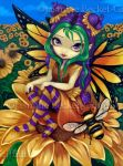 Sitting on a Sunflower by jasminetoad