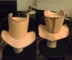 WIP Full sized Leather top-hat by ParkersandQuinn