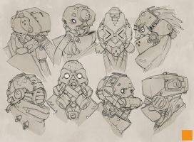 Masks by fightpunch