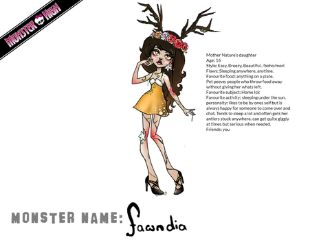 Create a Monster Contest Entry - Fawndia by redzorelf