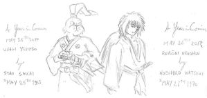 May 25th-26th - Usagi Yojimbo and Ruroni Kenshin by kanyiko