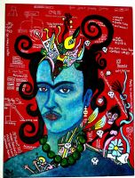 Blue Frida by pilar-deadstar