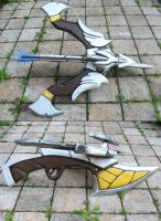 Woad Scout Quinn: The crossbow prop by MowkyCosplay