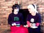 Homestuck - RoseMary Tea Time by artfulImpersonator