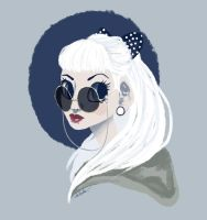 White haired lady by awsometastical101