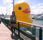 Giant Ass Duckie and Me by lady-leliel
