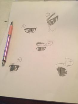 Random Anime Eyes by me by EscapingChespin