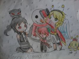 Secret Santa: making a snowman by lucila-88