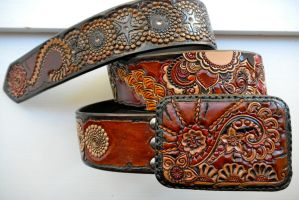 Gypsy Star Leather Belt by AFlem
