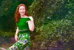 Red hair in green air by ginfoto