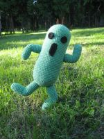 Crochet Cactuar by WolfandSquid