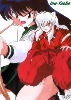 Kagome and Inu-Yasha by WolfHyde