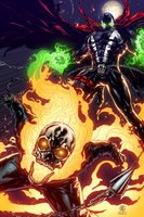 Spawn and Ghost Rider by AlonsoEspinoza