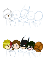 Batman Love Chain unfinished by mmxtra8