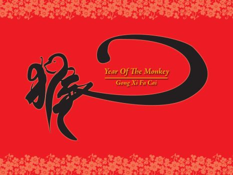 Year Of Monkey 2004 by creativespikes