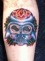 Day of the dead Vader. by FoxAndHoundTattoo