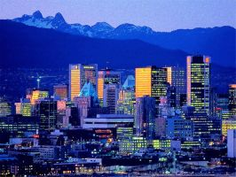 Vancouver Skyline British Columbia Canada by T-Douglas-Painting