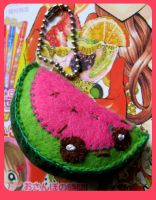 Watermelon Keyring by kickass-peanut