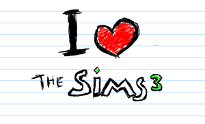 I Heart The sims 3 by Mengmurou