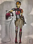 Sabine Wren by mandomemory