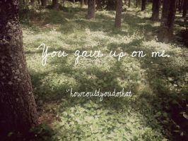 You Gave Up On Me by howcouldyoudothat