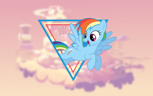 Rainbow Dash Wallpaper (Mane 6 Wallpaper Pack) by Damuchi99