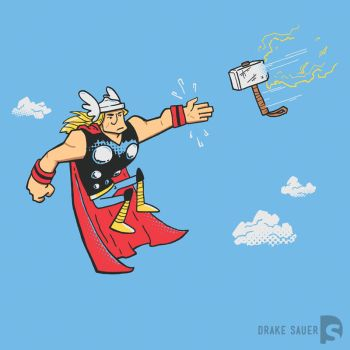 Thor Come Hither by drakeybaby