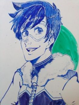 Winter Tracer - Whiteboard by 25thHanabusa