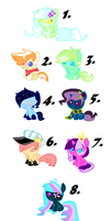 Adopts- Cute Things pack- (1/8 left) by JaxtheCatPony