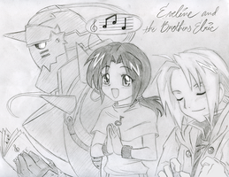 Eveline and the Brothers Elric by SonicRocksMySocks