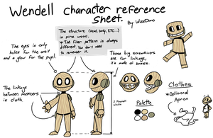 Wendell character reference sheet by WizzDono
