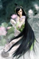 Miss green snake by Angell-studio