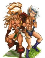Elfquest Cutter and Skywise Lifemates Forever by KwongBee-Arts
