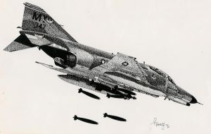 USAF F-4 Phantom by RamageArt