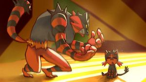 Incineroar and Litten