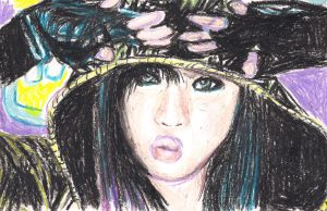 Minzy in Oil Pastel by topistops