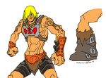 He-Man design doodle by PlanetDann