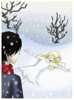 BB and A -under the snow- by Gueule-de-Loup