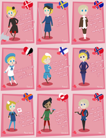 Nordics + OCs  Valentines Set by Ask-Hell