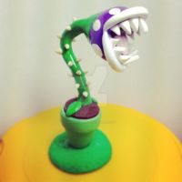 Polymer Clay Piranha Plant by Darklunax110