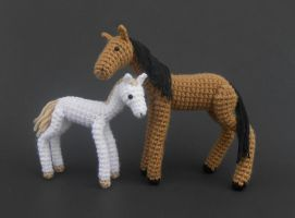 Horse and Foal (Patterns Available!) by Pickleweasel360