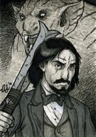 Witchfinder sketch card by silentsketcher