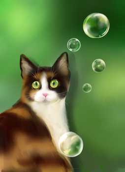 Cat Painting Practice 2 by cosmocatcrafts