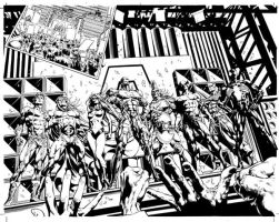 Dark Avengers 01: Pages 04-05 by MikeDeodatoJr