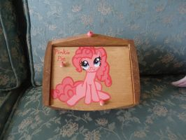 Pinkie Pie Recipe box by LindyArt