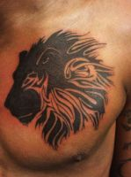 Tribal Lion Tattoo by ngoc50