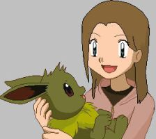 Me and my eevee by pikafeet